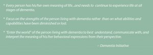Dementia Alliance Philosophy